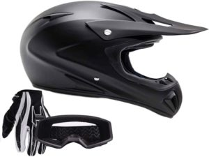 Full Black Adult ATV Helmet from Typhoon